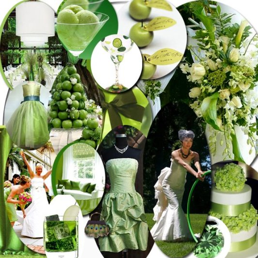 Choosing the right Color Motif: Green Wedding | Save The